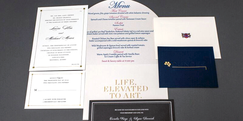 Invitations and Menus